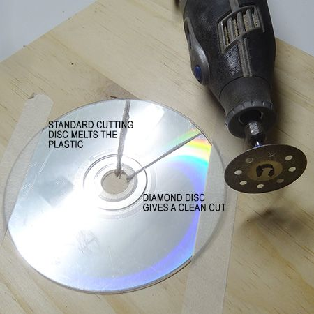 Recycle CD's into a gorgeous shimmering kitchen backsplash cut with dremel 4000 multitool