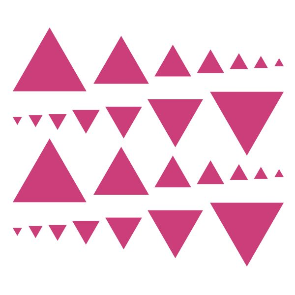 Hot Pink Triangles Vinyl Wall Decals #decals #stickers #decalvenue