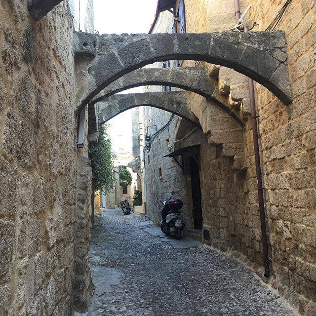 A backstreet in the old town of Rhodes