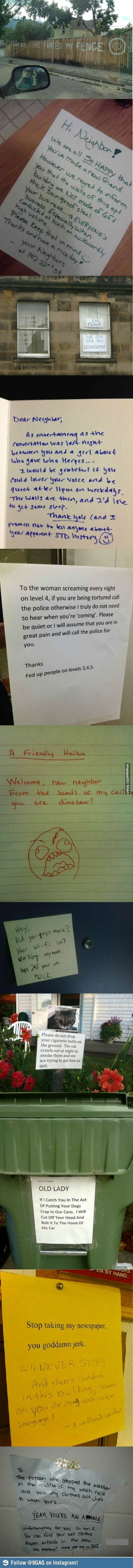 Awesomely Funny Notes from your Neighbors | FB TroublemakersFB Troublemakers