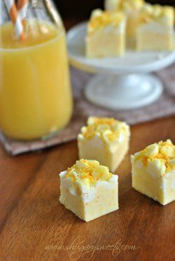 Copycat Orange Julius Fudge | This easy fudge recipe tastes just like the drinks I'd buy at the mall food court! It's one of my favorite homemade candy recipes.