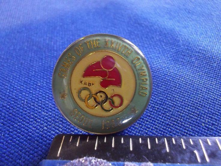 1988 Seoul Olympics NOC Pin Korea Boxing Team Dated