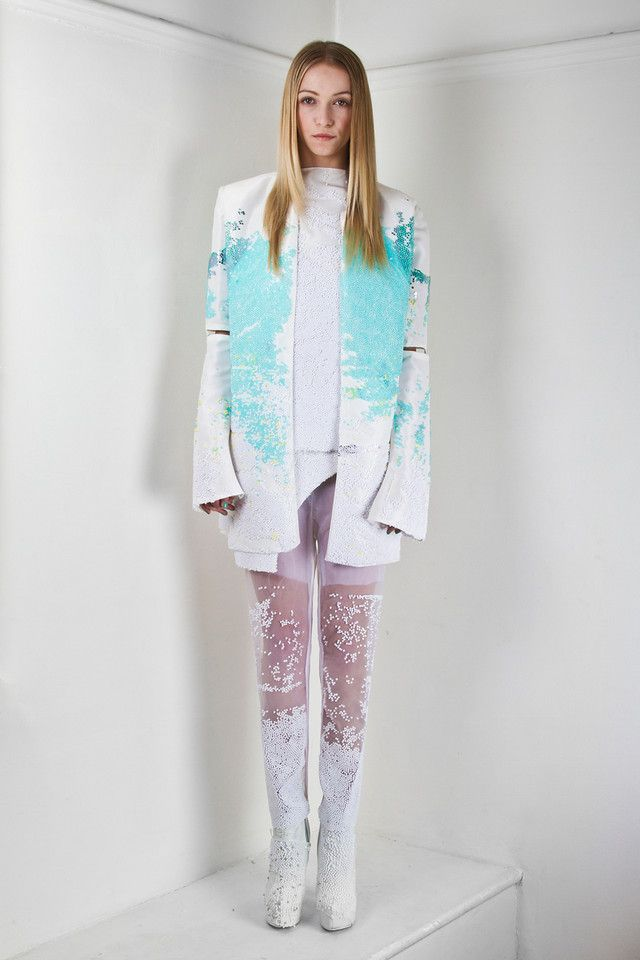London's Central Saint Martins Fashion graduate 2012 - Maia Bergman. Her obsession with beading has paid dividends for her. She comes up with the most delicious colour schemes.