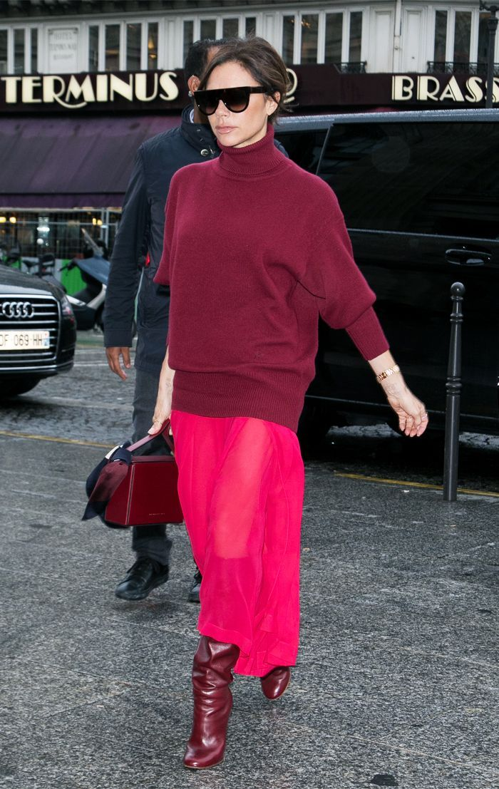 Victoria Beckham just showed how to wear one of the biggest trends for Autumn Winter 2012, head-to-toe red.