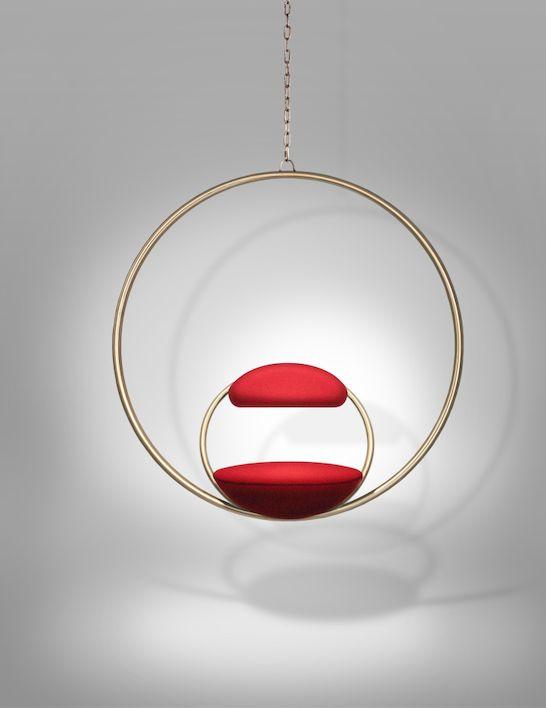 Hanging Hoop Chair Brass | #LeeBroom