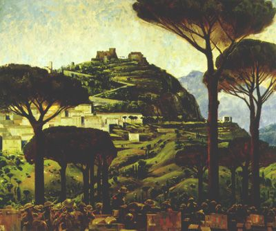 """""""CAMPOBASSO"""" by Charles Comfort (1945)  Renaissance art on a more modern way"""