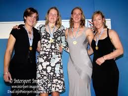 (From left to right) Katherine Grainger, Frances Houghton, Sarah Winckless and Debbie Flood