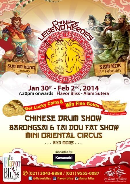 Long weekend belum punya rencana? Yuk ke acara CHINESE LEGEND HEROES presented by @flavorbliss DIJAMIN SERU DEH !