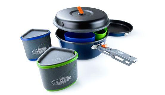 GSI Bugaboo Backpacker Campingservies en keukenuitrusting blauw/zwart