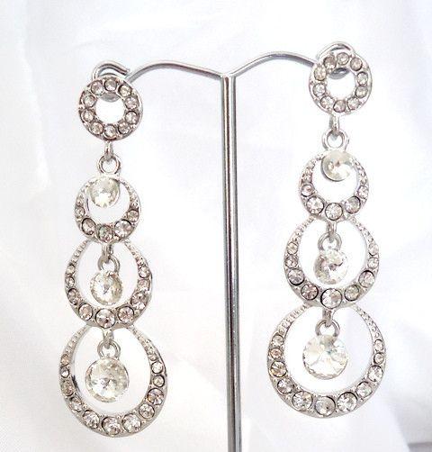 Crystal earrings, keiraann.com