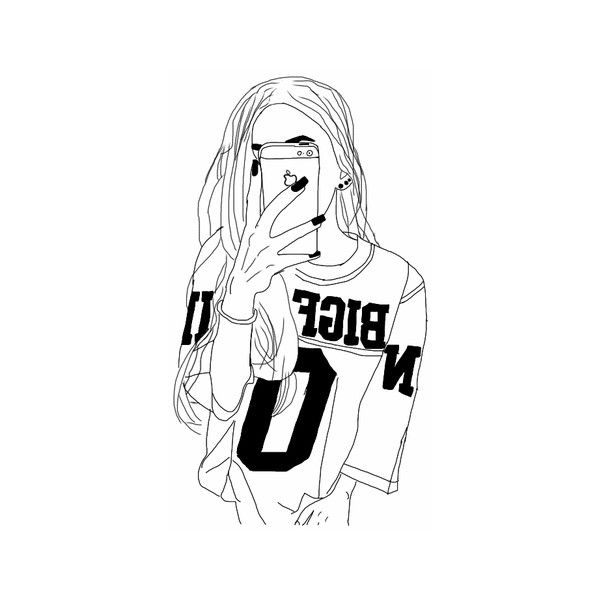 We Heart It ❤ liked on Polyvore featuring fillers, drawings, doodle, fillers - drawings, outline and scribble