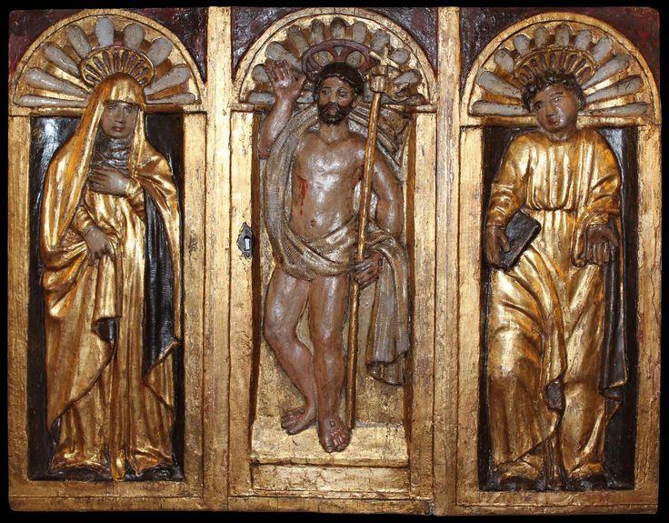 XVIIe siècle Notre-Dame des Douleurs, le Christ ressuscité,