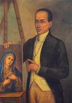 """Jose Campeche y Jordán (1751-1809)  Considered Puerto Rico's first major, """"homegrown"""" visual artist, Campeche was a mulatto whose father purchased his freedom from slavery. He was a self-taught painter who is known for his portraits of the island's elite and paintings of religious iconography."""
