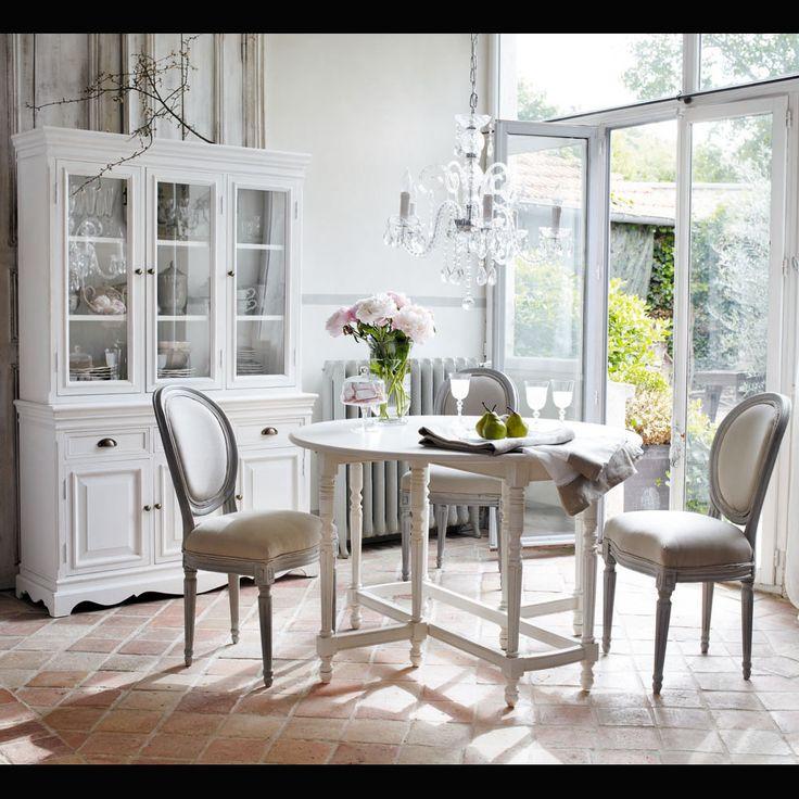 Bahut en bois de paulownia blanc L 124 cm Joséphine | Maisons du Monde