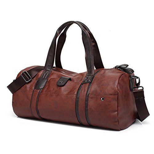 LIVAN® - sac de voyage travel - 67 X 53 X 23cm - Porté épaule, avant-bras ou bandoulière - 100% cuir de vachette neuf (MARRON CLAIR)