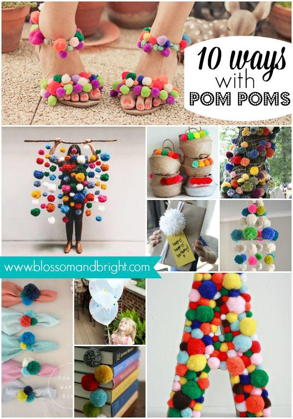 10 ways with pom poms