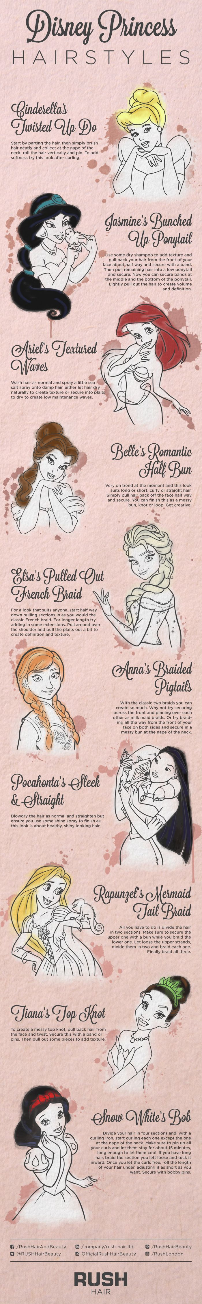 10 beautiful hairstyles to unleash your inner Disney Princess!