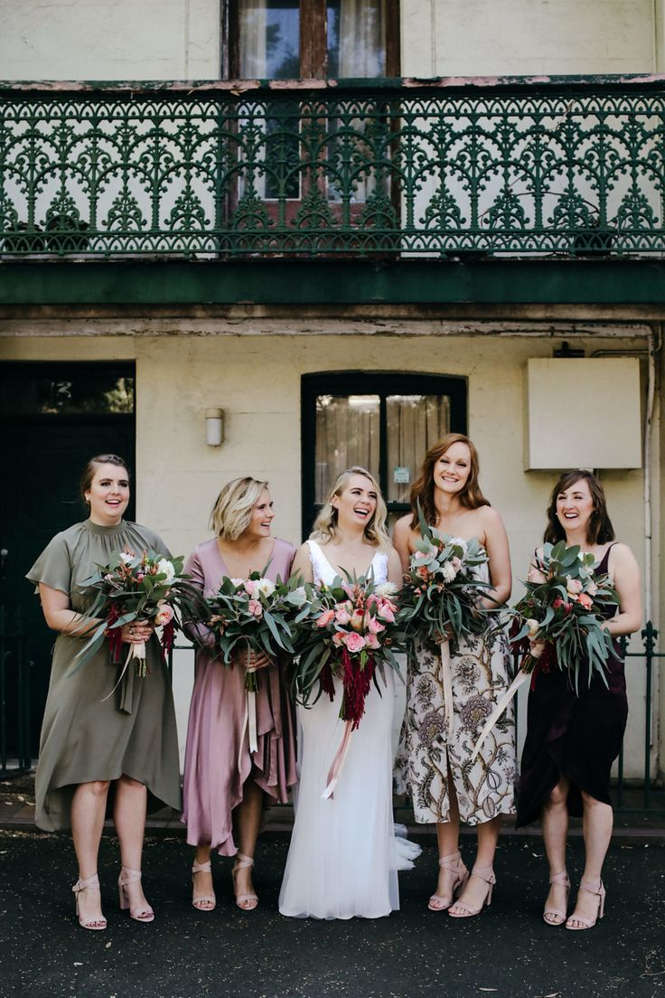 307 best bridesmaids images on pinterest bridesmaids festival modern bride with mismatched bridesmaids ombrellifo Gallery