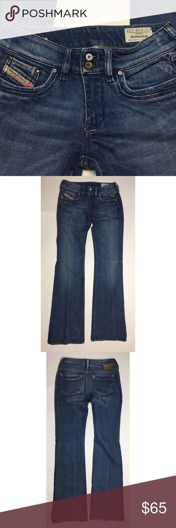 DIESEL Ronhar Jeans • Sz 26 x 32 Diesel RONHAR wash 007Y1 stretch Womens Jeans. Size 26 x 32. Jeans are in great condition, they are really nice jeans with amazing fabric materials. Quality is what Diesel jeans are known for. Please look at all the pictures. Ask any questions if you have any.  98% cotton 2% elastan  MADE IN ITALY Diesel Jeans Boot Cut