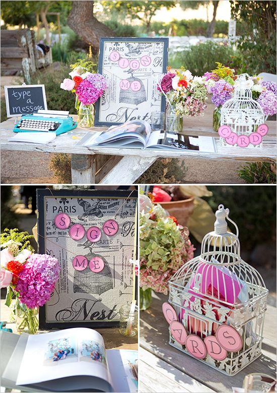 wedding sign in table - leuk wat betreft details