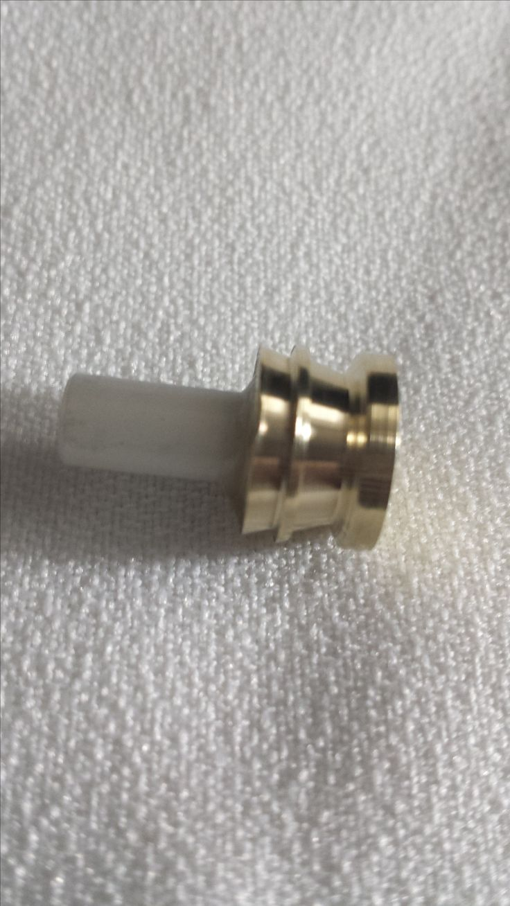 Custom Machined Brass Lightsaber Kill Key. Fits into any 2.1mm Recharge Port. Machined from a solid brass bar.