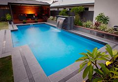 The Majestic Swimming pool is a great rectangle swimming pool for the modern home. | Barrier Reef Pools Perth