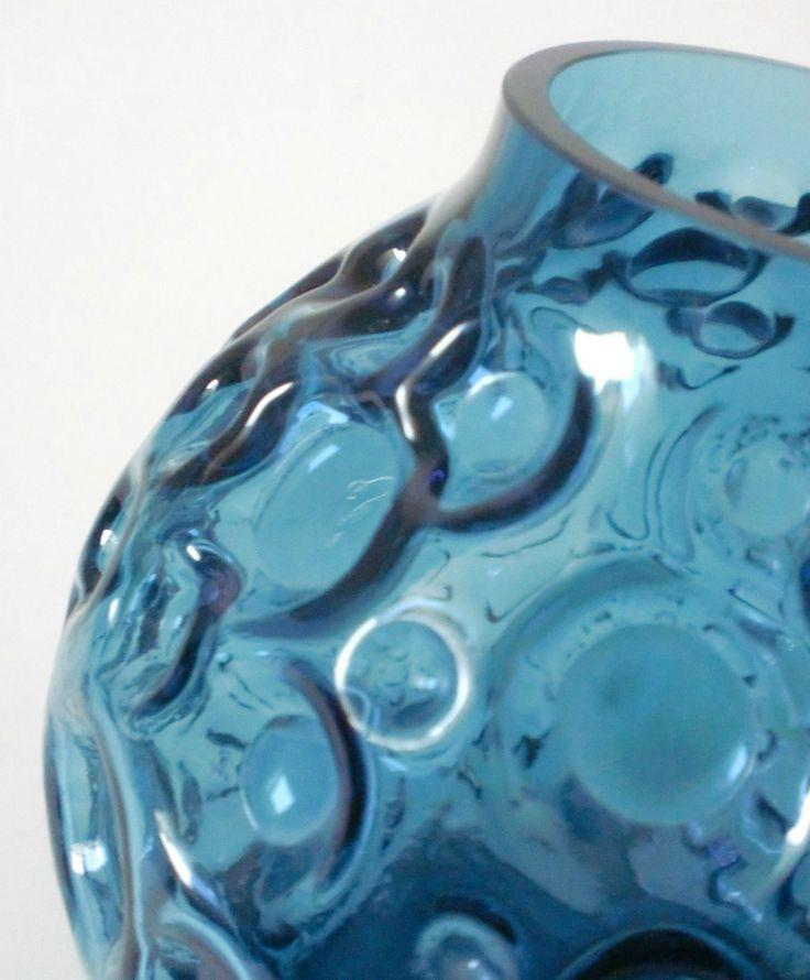 60s Pop Art Relief Kugel Glas Vase Hirschberg bubble glass annees 60 de.picclick.com