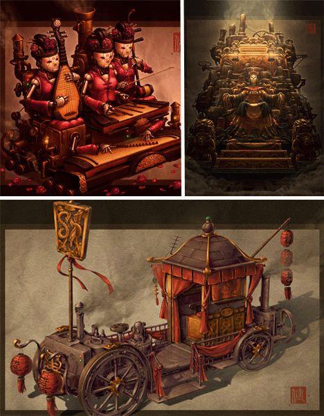 Asian Steampunk Art: Strange or Serious Green Machines?