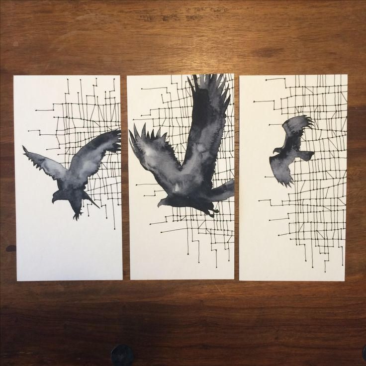 Eagles and patterns  -by AnnaHasle