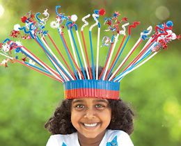 Great Fourth of July kid's hat, easy and your kids can help! You can even customize them for other holidays or theme parties!! Use them as a kid's party activity. The possibilities are endless!!!