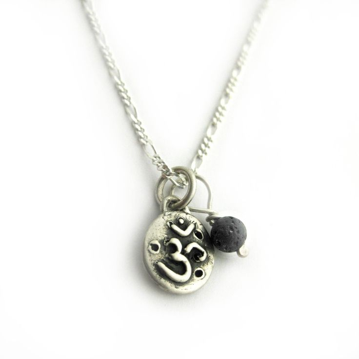 OM Amulet Silver Aromatherapy Necklace by LuxeDesignJewellery on Etsy