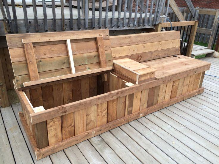 Beau Deck Storage Bench Design With Dual Compartments | D.E CustomTrades |  Pinterest | Deck Storage Bench, Deck Storage And Bench Designs
