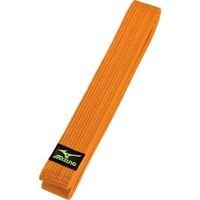 Belts and Sashes 73981: Mizuno Judo Gi Obi Orange Belt Import Japan BUY IT NOW ONLY: $47.0