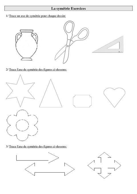 """Résultat de recherche d'images pour """"symétrie ce2 a ..."""