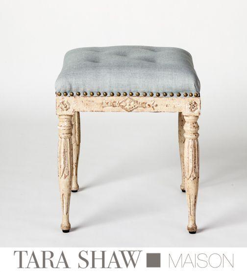 Swedish Painted Tabouret By Tara Shaw Maison