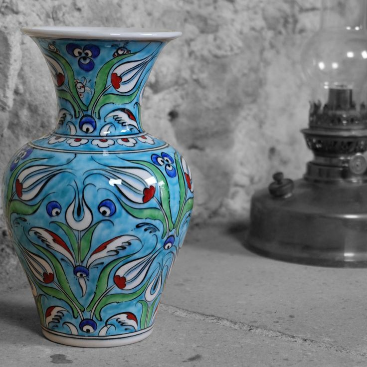 #vase #turquoise en #céramique 100% #artisanale, par KaravaneSerail