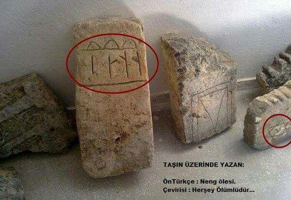 """Malatya -Arapkir'de bulunan Göktürkçe yazıt : """"Her şey ölümlüdür"""""""