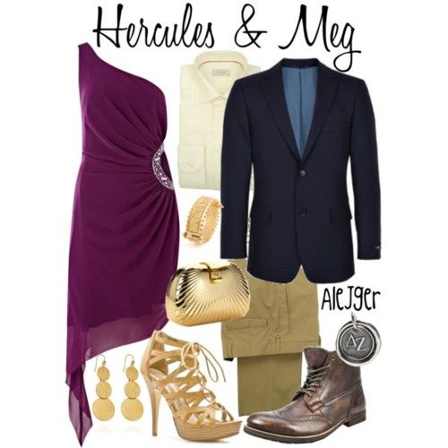 """Hercules and Meg"" ~ Hercules inspired formal couple attire."