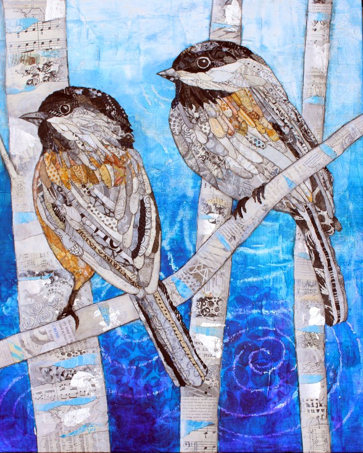 Mixed Media Collage by Lisa Morales - Two Cool Chicks - www.lisamoralesmixedmedia.com