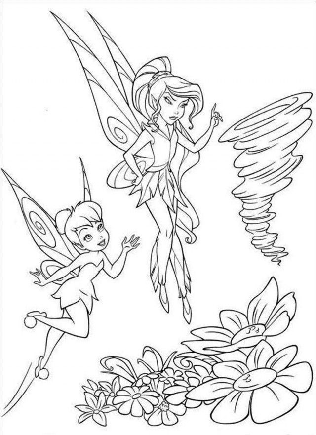 Tinkerbell And Fairy Friends Coloring Pages Fairy Coloring Pages Tinkerbell Coloring Pages Fairy Coloring