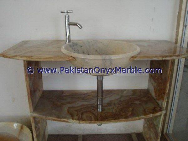 Onyx bathroom countertops