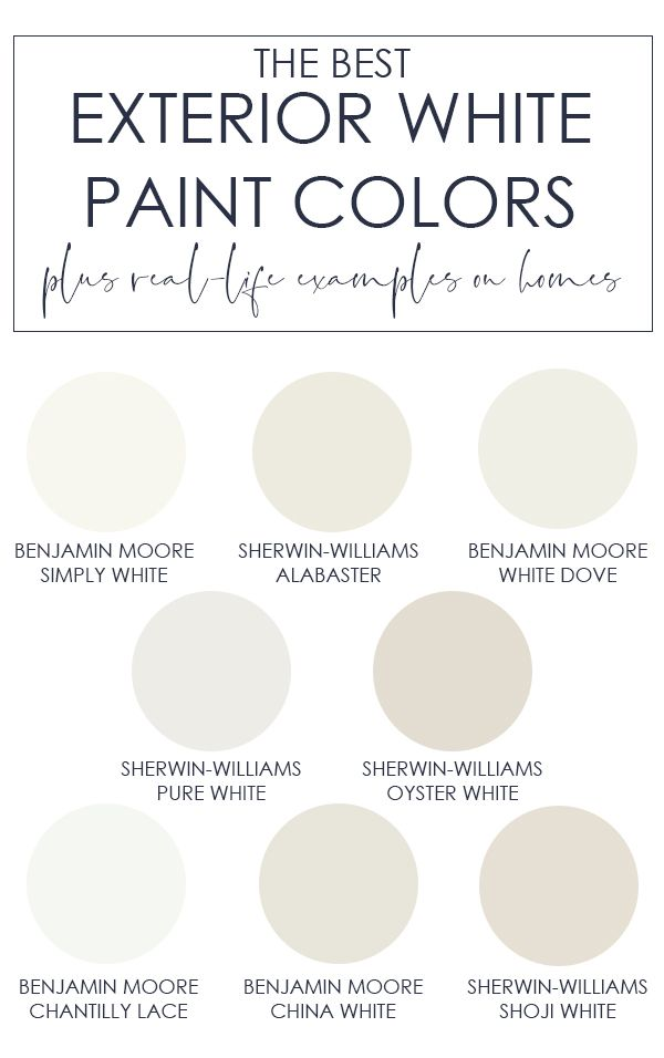 The Best Exterior White Paint Colors White Paint Colors