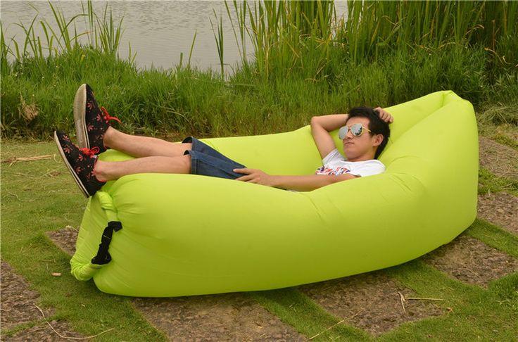 Европа lamzac ленивый пляжный стул портативный складной открытый надувной диван воздушный диван-кровать - Taobao