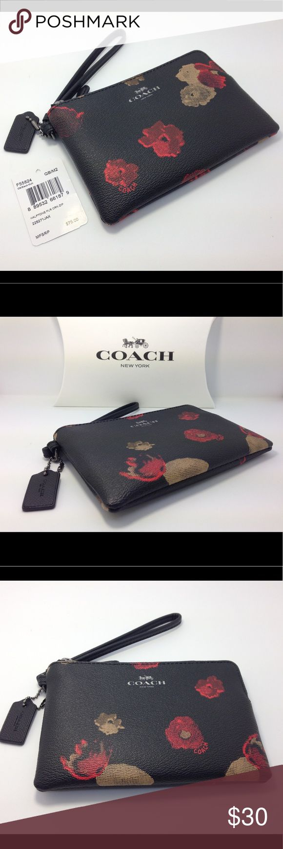 "Coach Women's Wristlet F55824 Brand New This is brand new from Coach factory and it comes with gift box and tag price. 2 credit card pockets and multifunction pockets. Approximately: 6.25"" ( L) x 4"" (H) . Coach Bags Clutches & Wristlets"