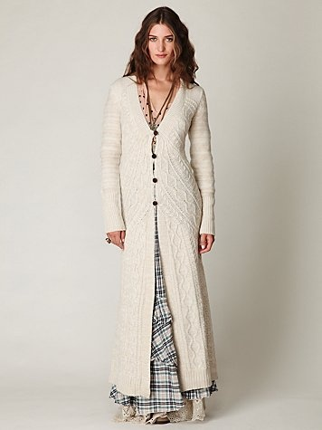 OMG--look at this sweater--topper--cardigan...whatever you want to call it...LOVE IT! I so should have lived back in the Little House on Prairie days...would have been hard to run in those long dresses though...