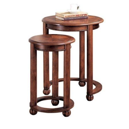 Coaster Company Nesting Table, Warm Amber, Brown