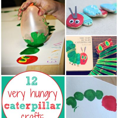 12 Very Hungry Caterpillar Crafts | Toddler Art Projects