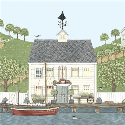 The Captain's House Greetings Card