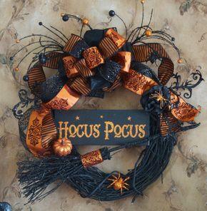 hocus pocus halloween witch wreath halloween wreath halloween decor witchy witch wreath