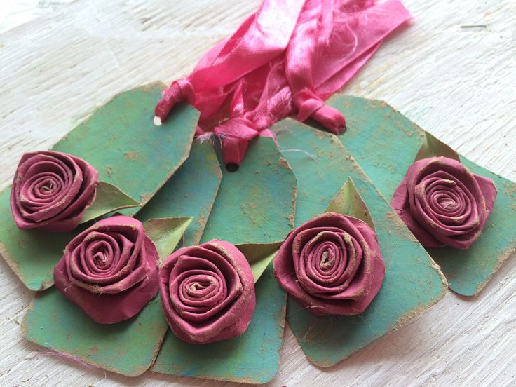 Shabby chic vintage rose gift tag, handcrafted from recycled stuff.  #shabbychic #vintage #handcrafted #recycled #rose #gift #paper